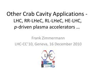 Frank Zimmermann LHC-CC'10, Geneva, 16 December 2010