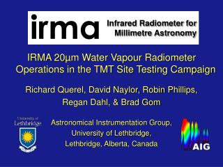 Infrared Radiometer for Millimetre Astronomy