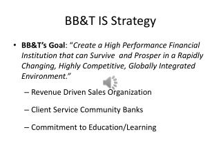 BB&T IS Strategy
