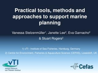 Practical tools, methods and approaches to support marine planning