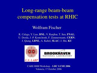 Long-range beam-beam  compensation tests at RHIC