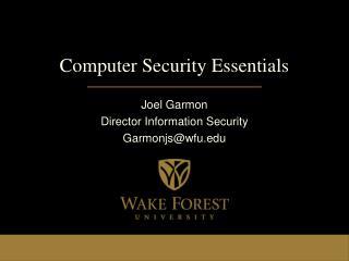 Computer Security Essentials