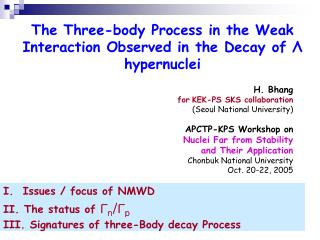 The Three-body Process in the Weak Interaction Observed in the Decay of  Λ  hypernuclei