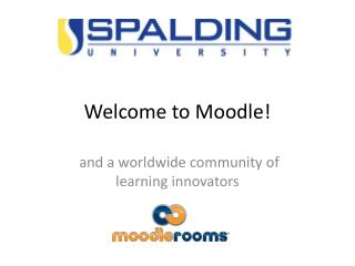 Welcome to Moodle!