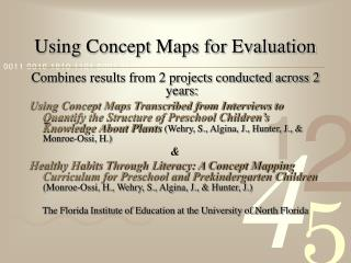 Using Concept Maps for Evaluation