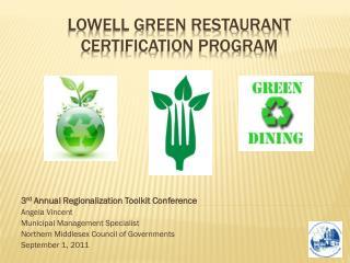 Lowell Green Restaurant Certification Program