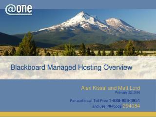 Blackboard Managed Hosting Overview