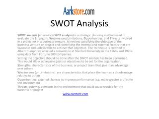 Swot, Strategy and SWOT Report, Deals and Alliances Profile