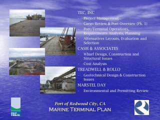 Port of Redwood City, CA Marine Terminal Plan