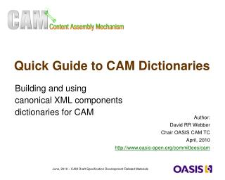 Quick Guide to CAM Dictionaries