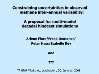 Constraining uncertainties in observed methane inter-annual variability: