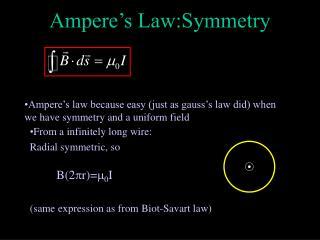 Ampere's Law:Symmetry