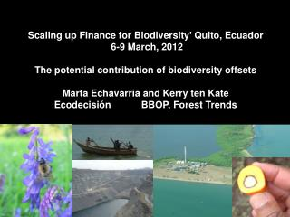 Scaling up Finance for Biodiversity '  Quito, Ecuador  6-9 March, 2012