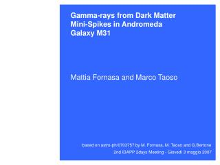 Gamma-rays from Dark Matter Mini-Spikes in Andromeda  Galaxy M31