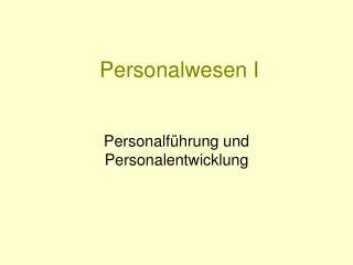 Personalwesen I