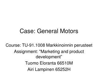 Case: General Motors