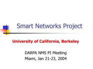 Smart Networks Project