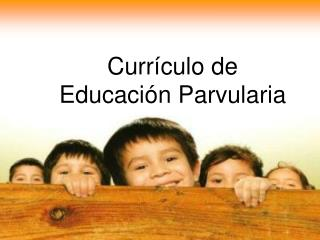Currículo de Educación Parvularia
