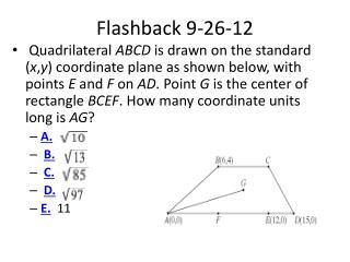 Flashback  9-26-12