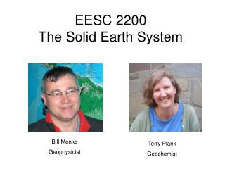 EESC 2200 The Solid Earth System