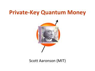 Private-Key Quantum Money