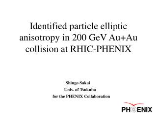 Identified particle elliptic anisotropy in 200 GeV Au+Au collision at RHIC-PHENIX