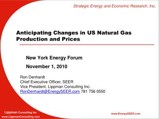 Anticipating Changes in US Natural Gas Production and Prices