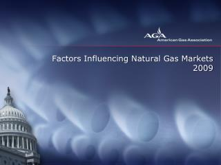 Factors Influencing Natural Gas Markets 2009