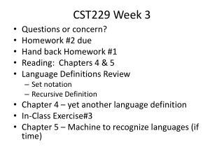CST229 Week  3
