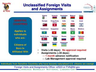 Unclassified Foreign Visits  and Assignments