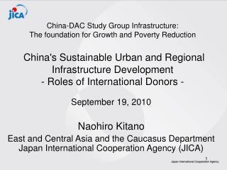 September 19, 2010 Naohiro Kitano