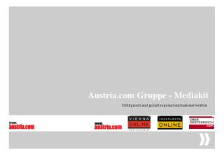 Austria Gruppe - Mediakit