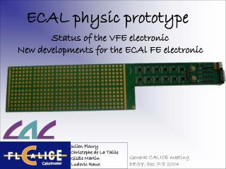 ECAL physic prototype