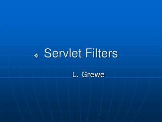Servlet Filters