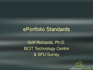 ePortfolio Standards
