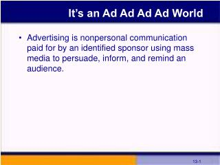 It's an Ad Ad Ad Ad World