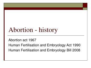 Abortion - history