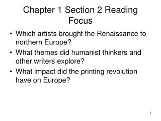 Chapter 1 Section 2 Reading Focus