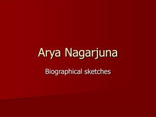 Arya Nagarjuna