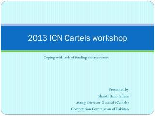 2013 ICN Cartels workshop