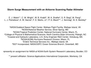 Storm Surge Measurement with an Airborne Scanning Radar Altimeter