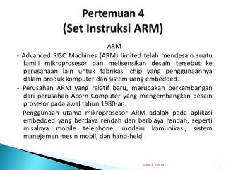 Pertemuan  4 ( Set Instruksi ARM )
