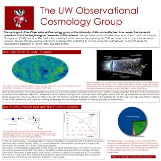 The UW Observational Cosmology Group
