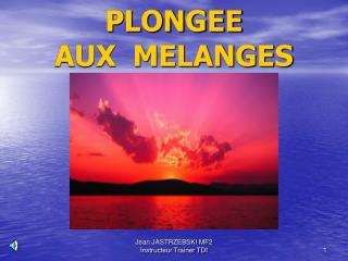 PLONGEE AUX  MELANGES