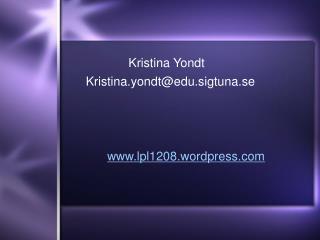 Kristina Yondt