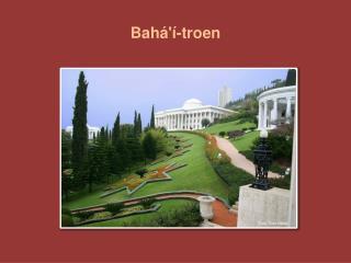 Bahá'í-troen