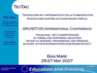 Technologie de l'Information et de la Communication  Technologie adaptée aux chercheurs d'emploi