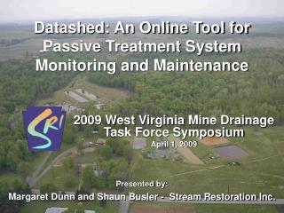 Datashed: An Online Tool for Passive Treatment System Monitoring and Maintenance