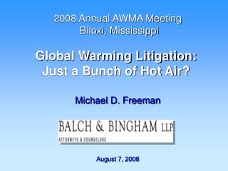 Global Warming Litigation:  Just a Bunch of Hot Air?