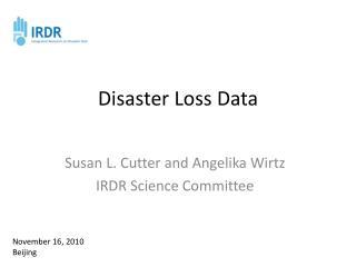 Disaster Loss Data